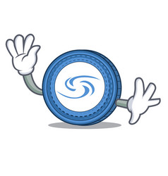waving syscoin character cartoon style vector image