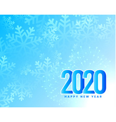 winter snowflakes happy new year 2020 background vector image