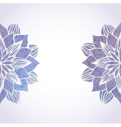 With watercolor violet floral vector