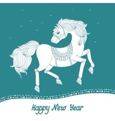 Year of Horse vector