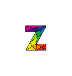 Z colorful low poly letter logo icon design vector