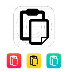 Clipboard with file icon vector image