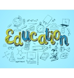 Education icon concept vector image vector image