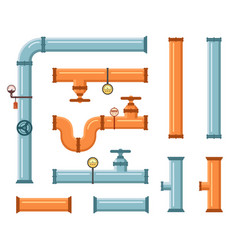 pipes set for plumbing or construction industry vector image
