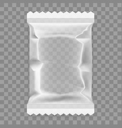 transparent white food snack plastic pillow bag vector image vector image
