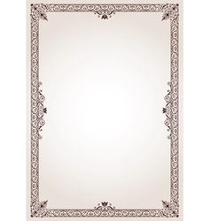 Decorative border frame vector image vector image