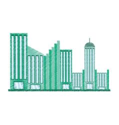 drawing building facade college vector image