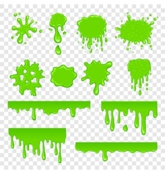 Green slime set vector