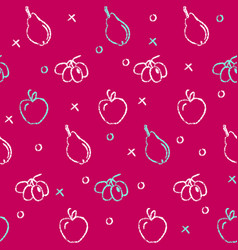 seamless pattern with fruit symbols vector image