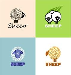 symbols sheep vector image vector image