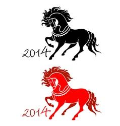 2014 Horse Lunar symbol vector image