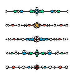 decorative hipster geometric colorful dividers vector image