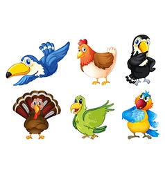 Flying birds vector image vector image