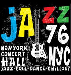 jazz concert poster design tee graphic vector image