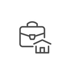 real estate business line icon vector image