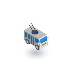 trolleybus passenger transport isometric flat vector image vector image