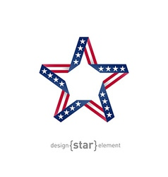4th July Independence day star from ribbon with vector image vector image