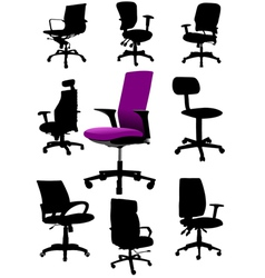al 0326 office chair vector image