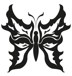 Black and white butterfliesTattoo design vector image