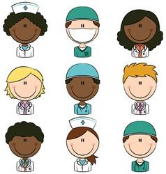 medical avatars vector image vector image