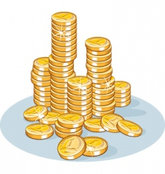 pile of coins vector image