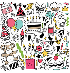 067-hand drawn party doodle vector