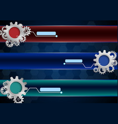 abstract background with gears vector image