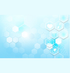 Abstract soft blue geometric background vector