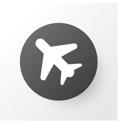 Airplane in the sky icon symbol premium quality vector