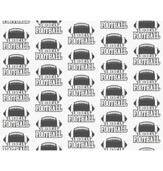 American football seamless pattern Sports vector