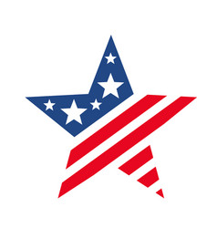 American star like usa flag vector