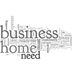 Are you ready for a home business vector