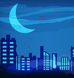 artistic watercolor night city vector image
