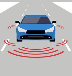 Autonomous car icon drive sensor digital vector