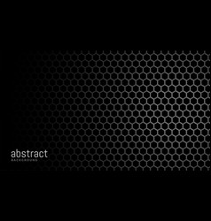 black background with hexagonal mesh pattern vector image