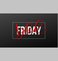 black friday lettering design for advertising vector image