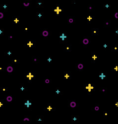 black memphis seamless pattern 80s - 90s style vector image