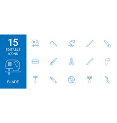 Blade icons vector