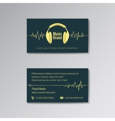 Business card template for music brand vector