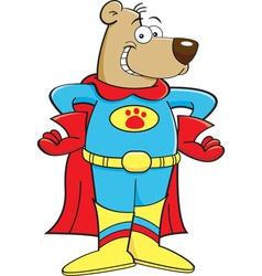 Cartoon bear dressed as a superhero vector image