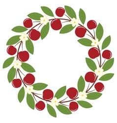 Cherry Wreath vector image