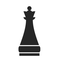 Chess piece queen flat object on a white vector