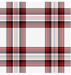 Christmas new year tartan pattern scottish cage vector
