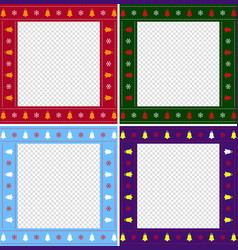 christmas or new year multiciolored border set on vector