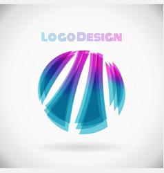 circle logo color shape design element in eps10 vector image