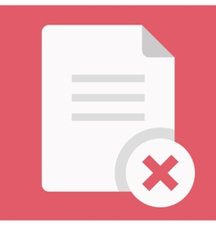 Close Document Icon vector
