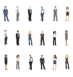 Collection of business people vector