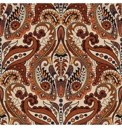Colorful Paisley seamless pattern Indian vector