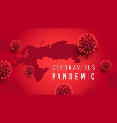 coronavirus infections covid-19 concept global vector image