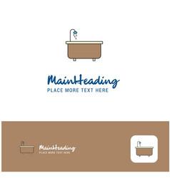 creative bathtub logo design flat color logo vector image